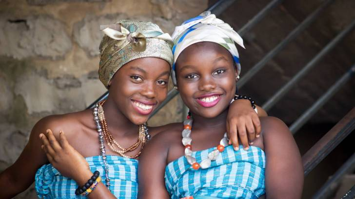 pretty happy african women