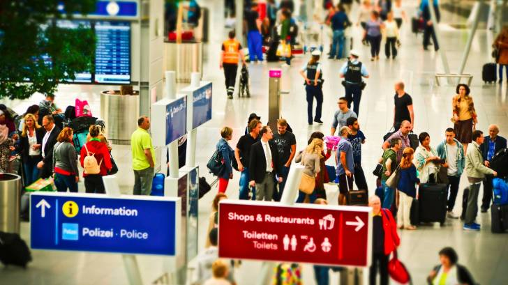 airport lines for security