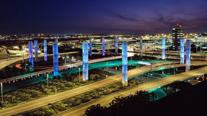 lax airport at night