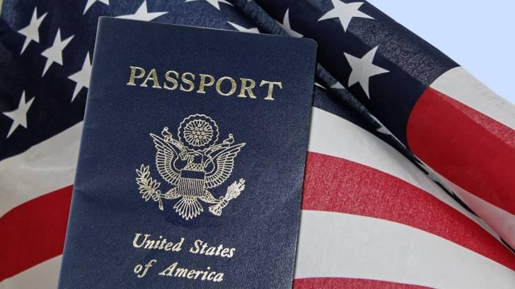 american flag and passport