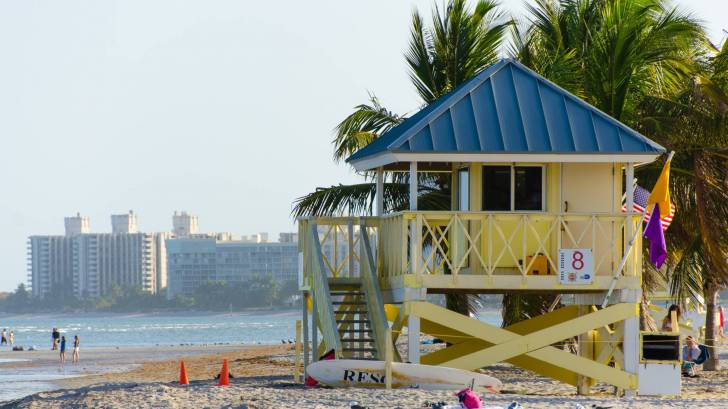 life guard shack on the beach in miami