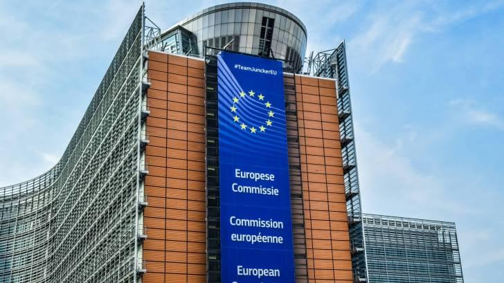 European commission building in Belgium