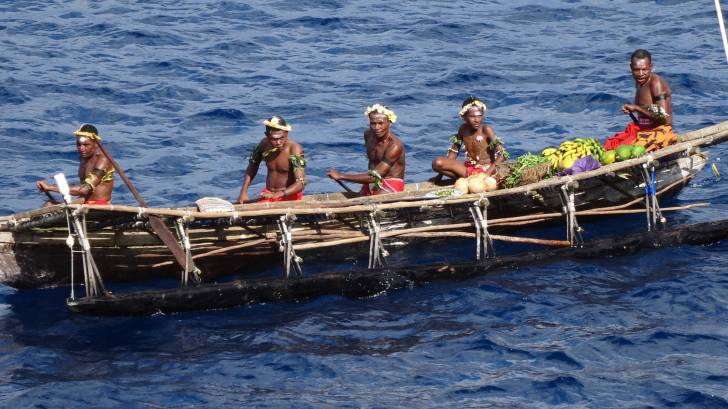 dug out canoe in papua new guinea