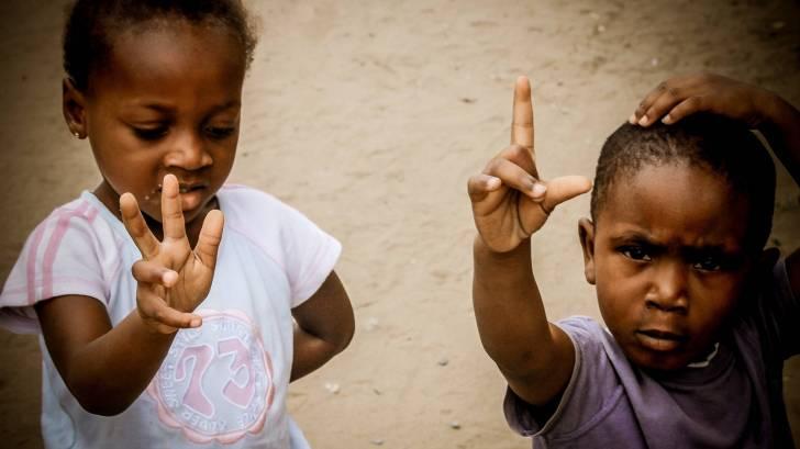 black children of the congo