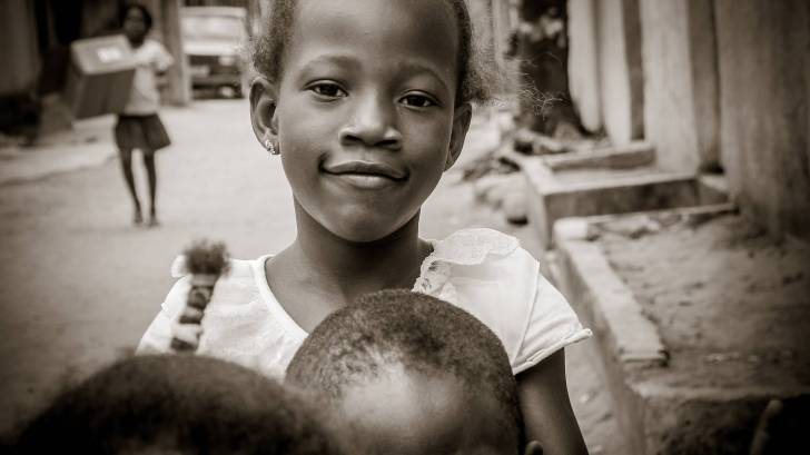 african young children