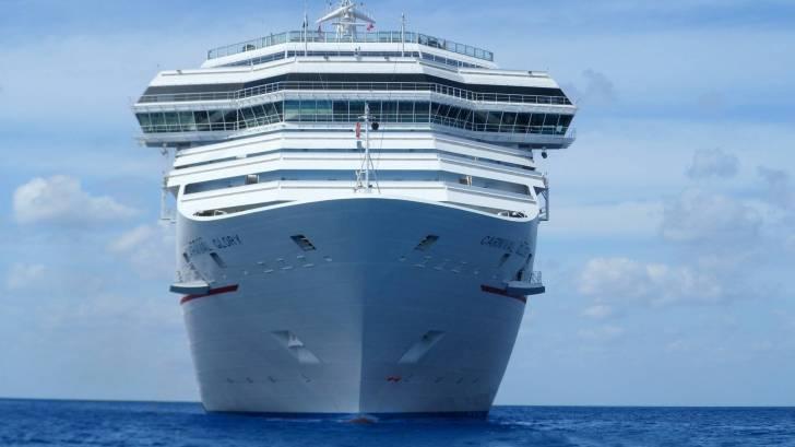 cruise ship in the ocean