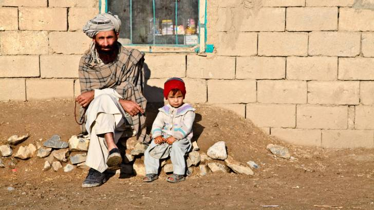 father and daughter in afghanistan