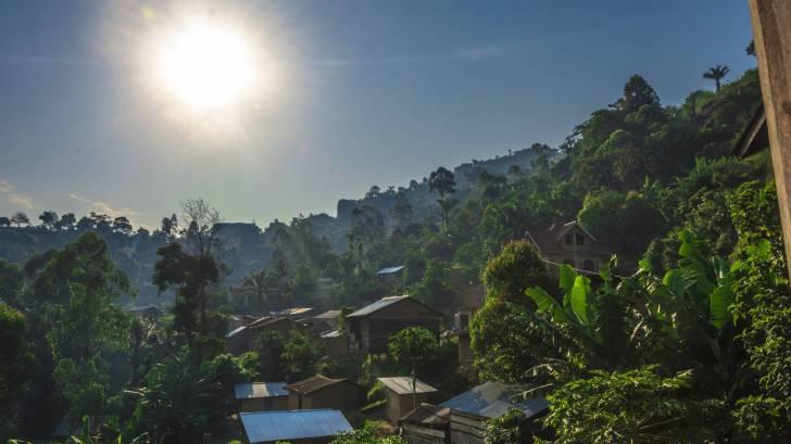 drc village sunny day