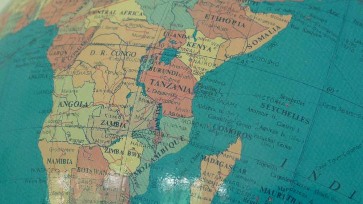 map of africa showing somalia