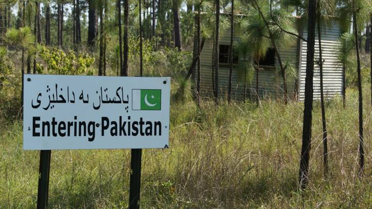 sign entering pakistan