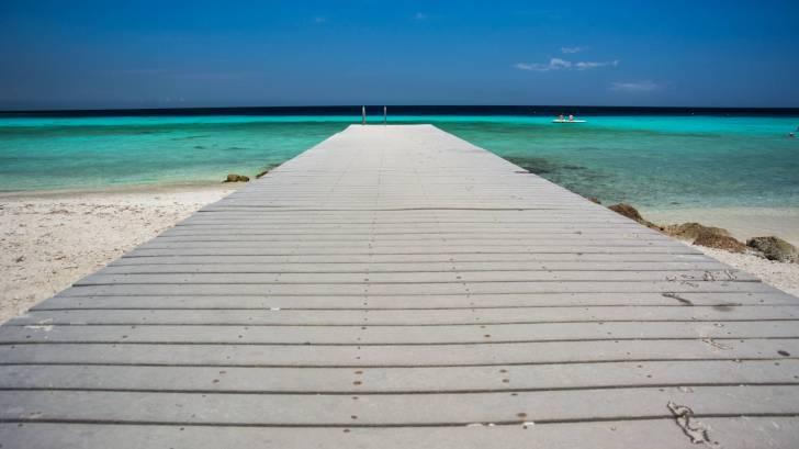 pier on caribbean beach