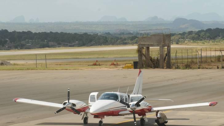 prop plane in africa