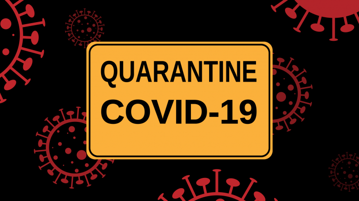 quarantine sign due to covid-19