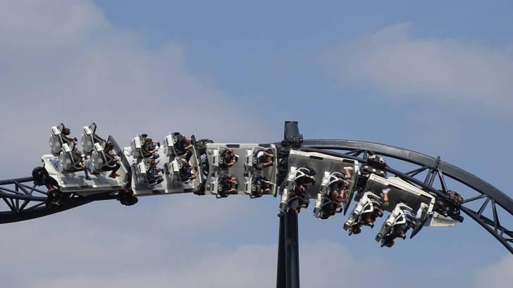 roller coaster upside down