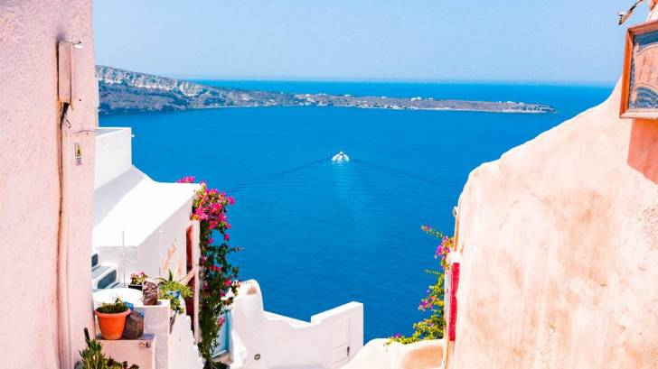 Greek isles and water