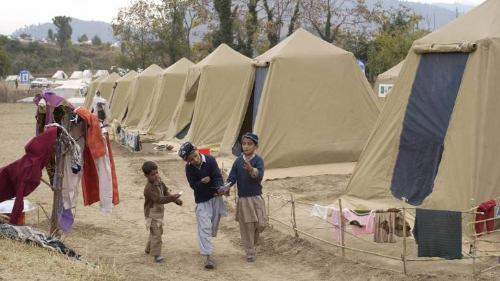 pakistani children in a camp