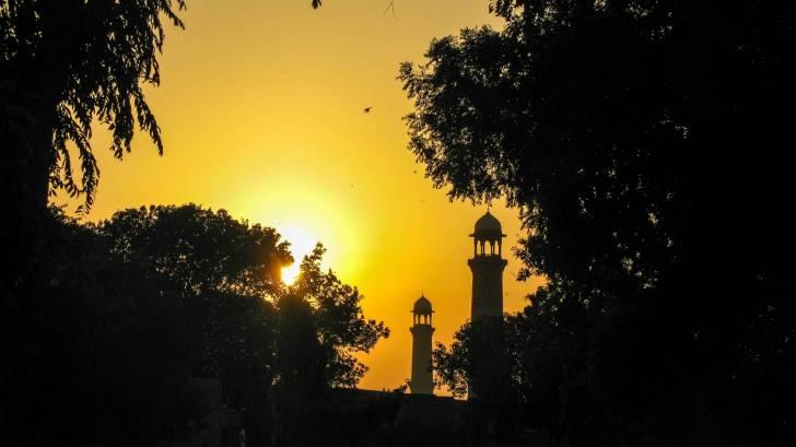 sun setting in Pakistan
