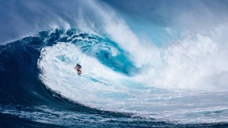 hawaii surfer on a big wave