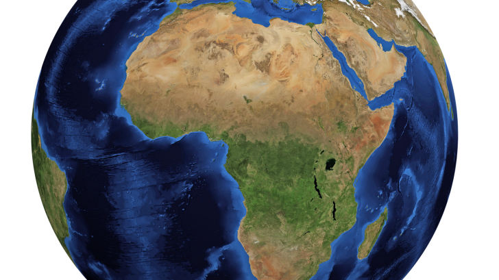 world globe of africa