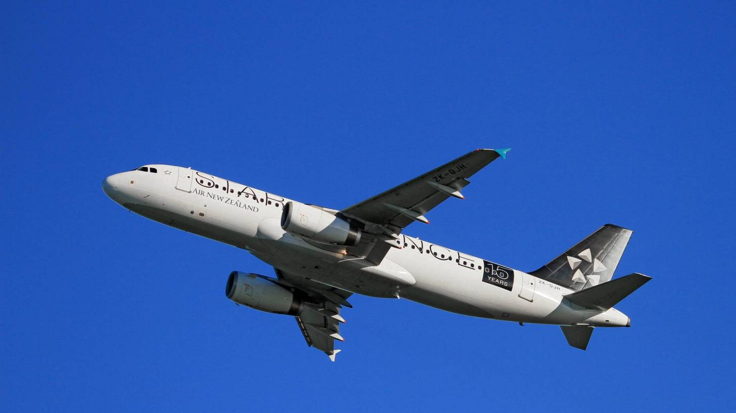 New Zealand airline in the air