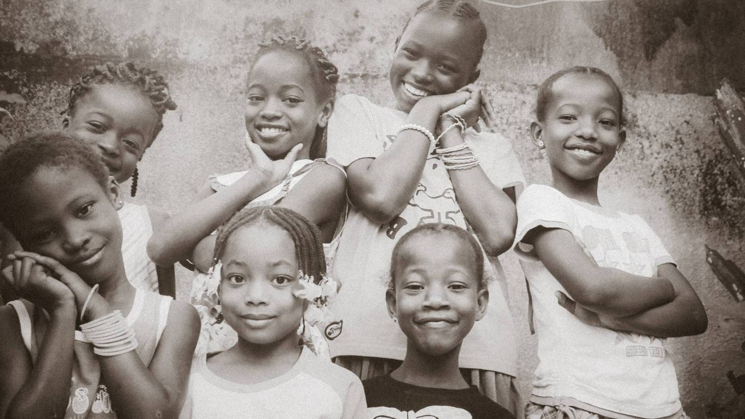 african children happy and healthy