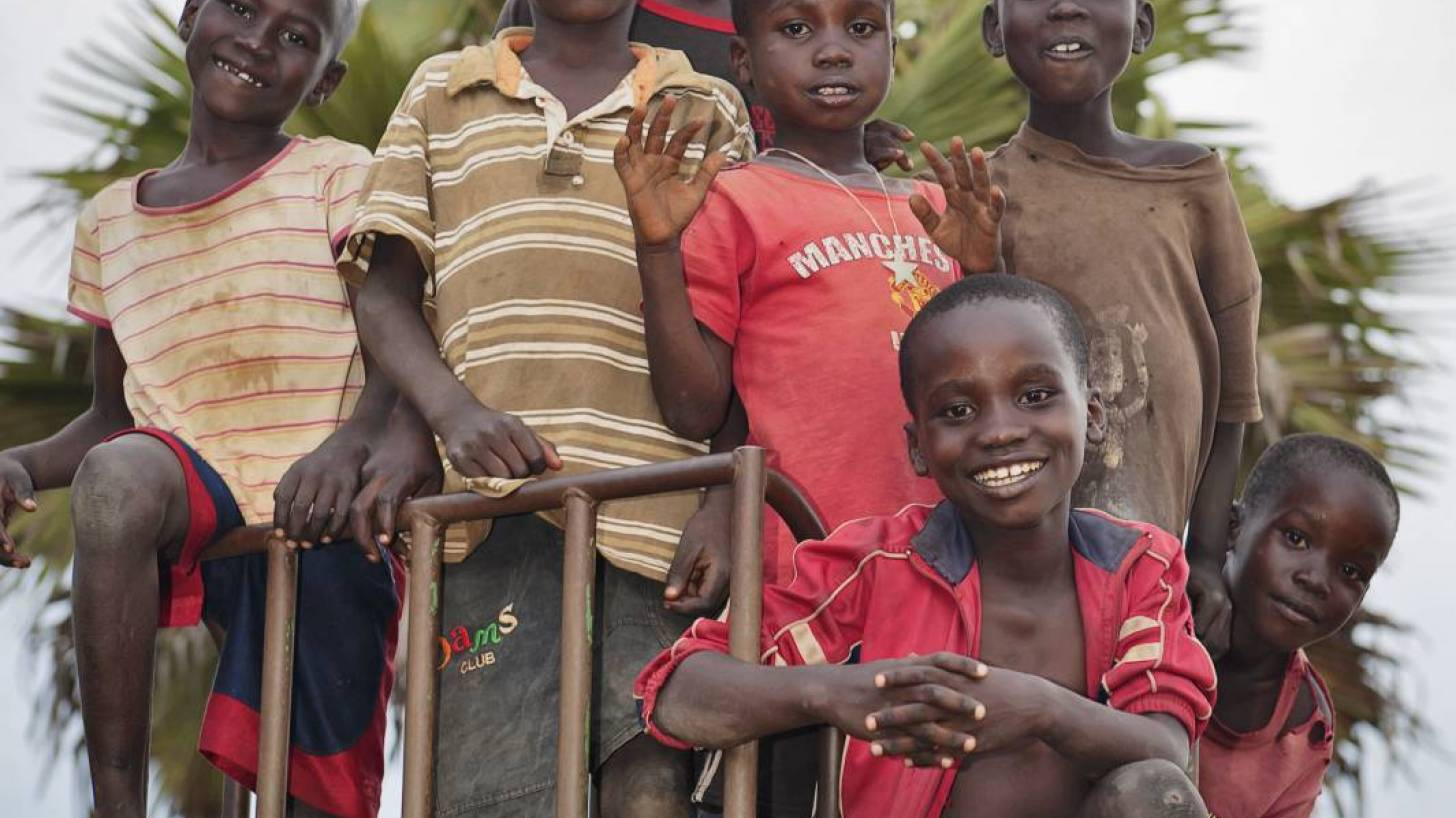 young african boys on a playground