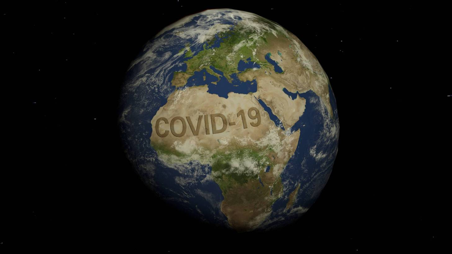 africa globe covid-19