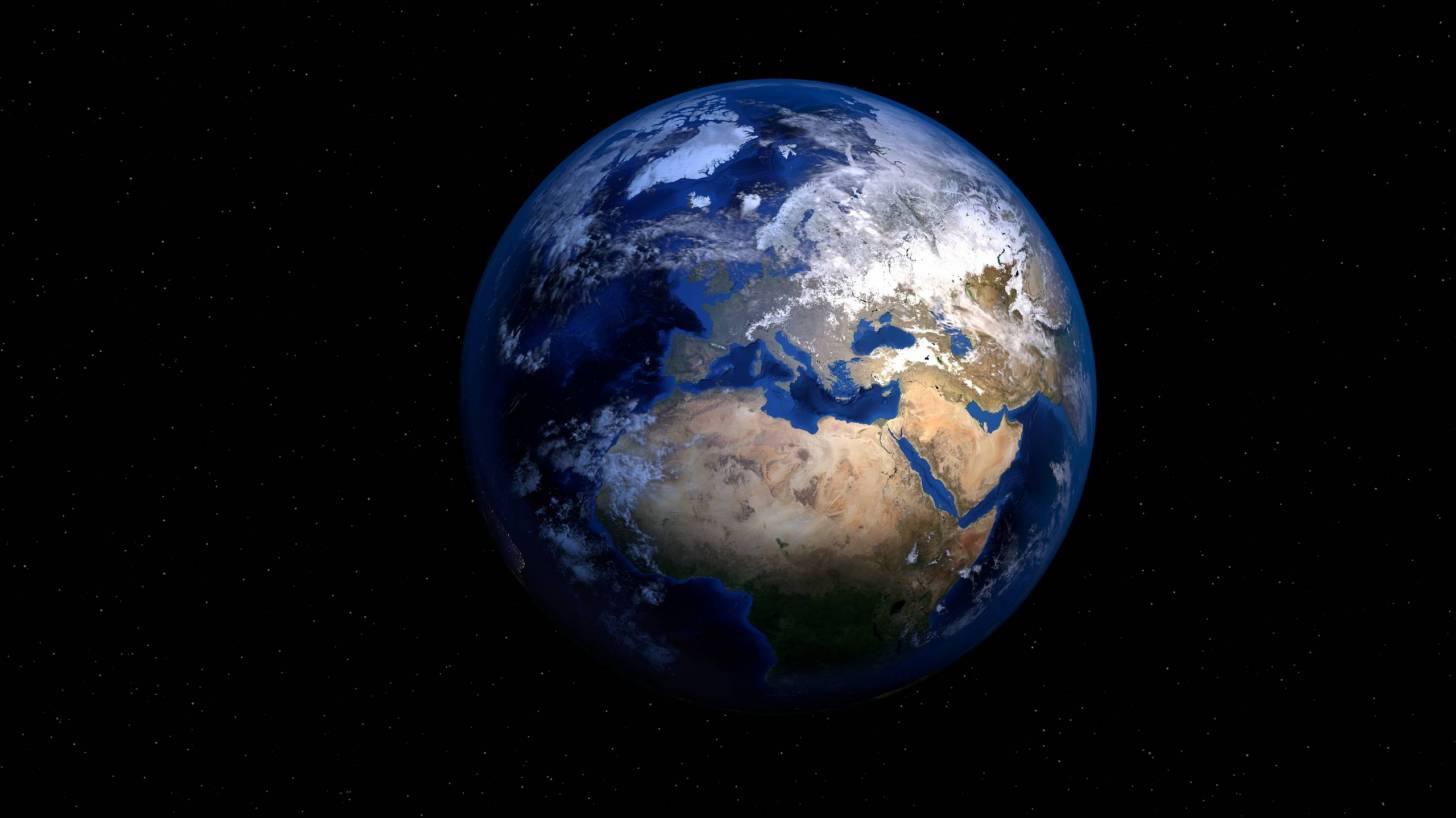 world globe showing africa