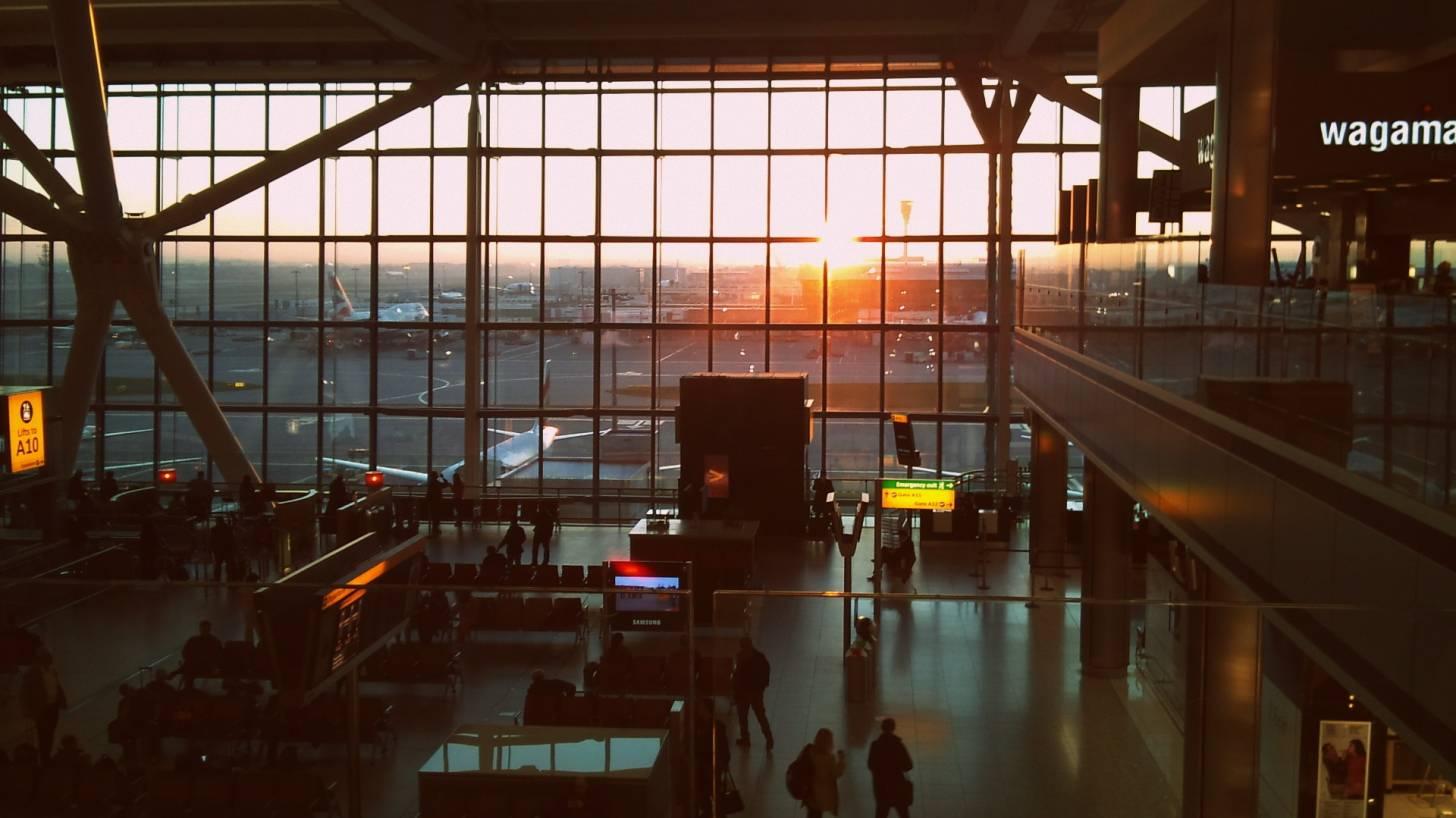 heathrow airport at sunrise