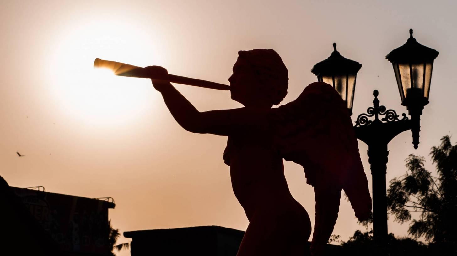 statue in venezuela of an angel