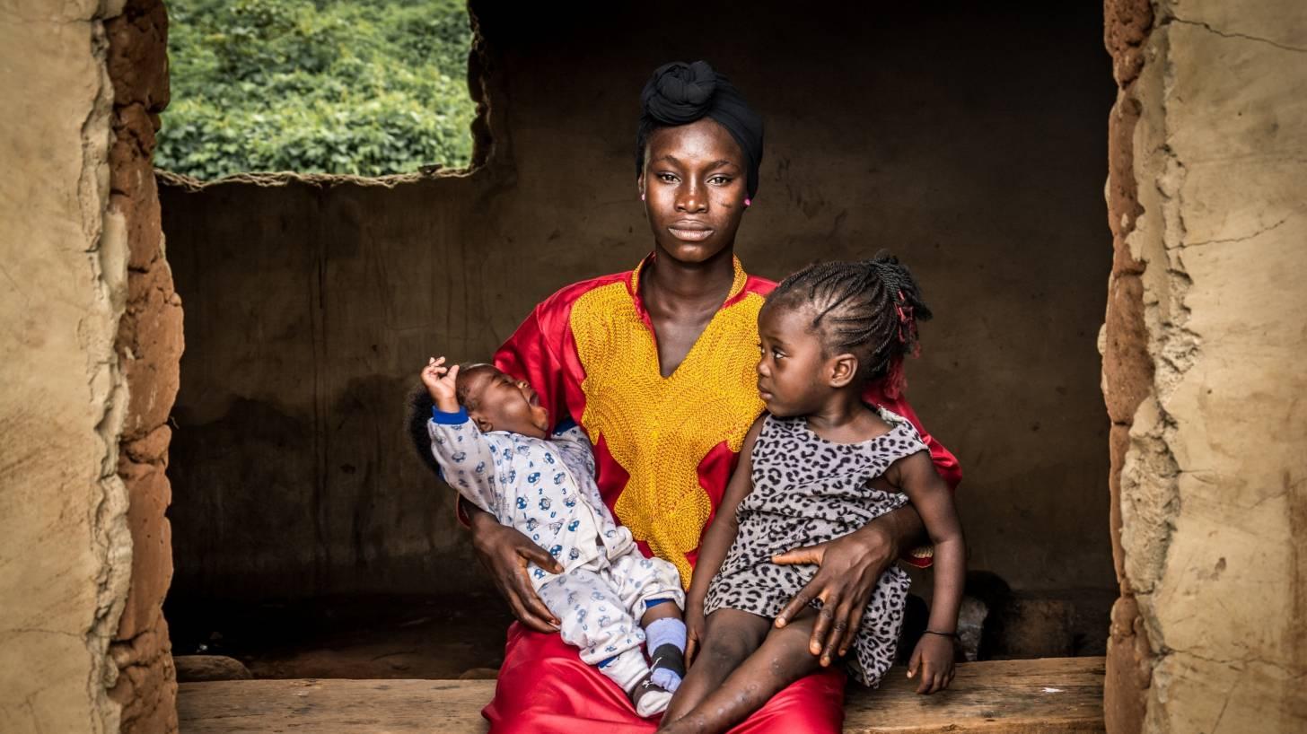 nigerian mom and children