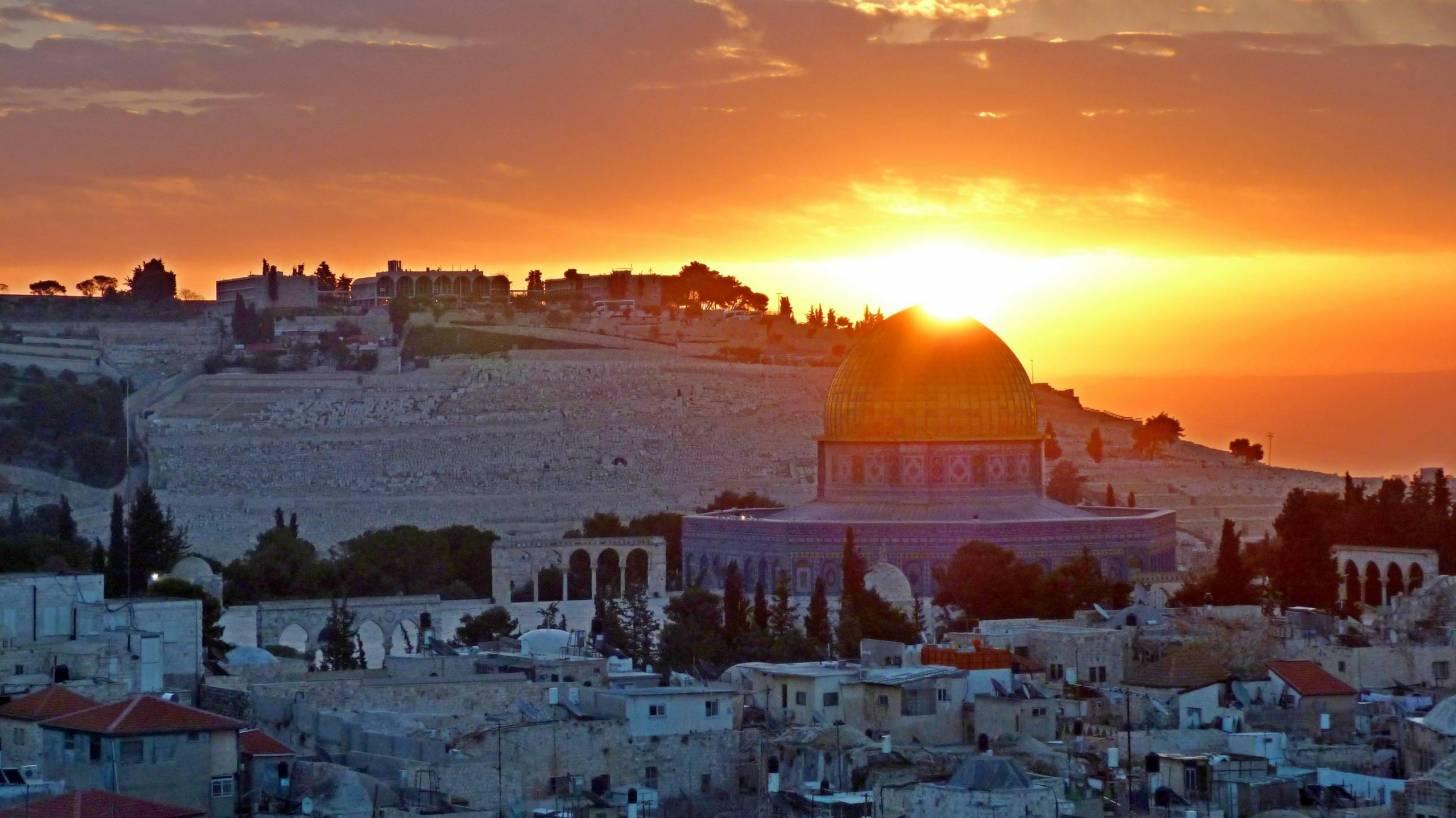 sunrise over Jerusalem