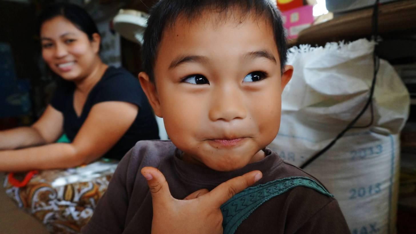 young filipino boy happy