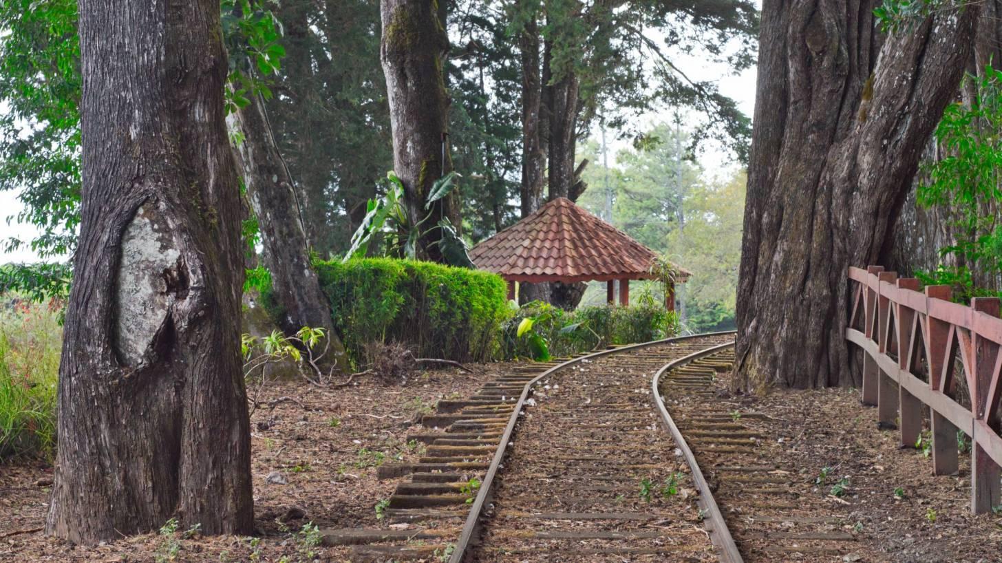 costa rican train to small village