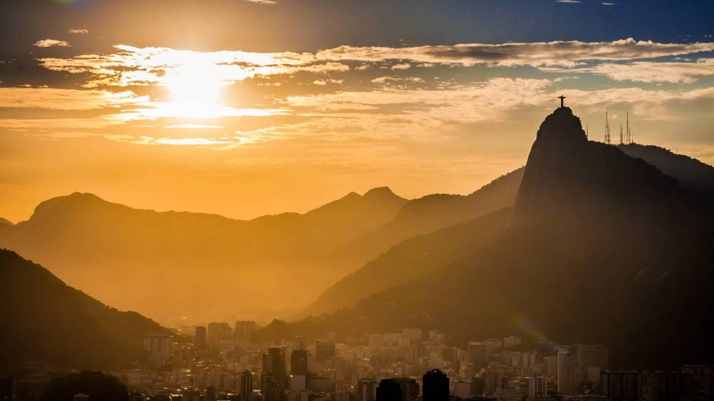São Paulo brazil at sun set