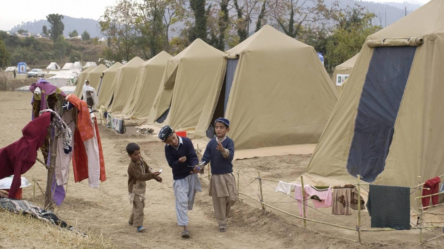 pakistani children in a camp