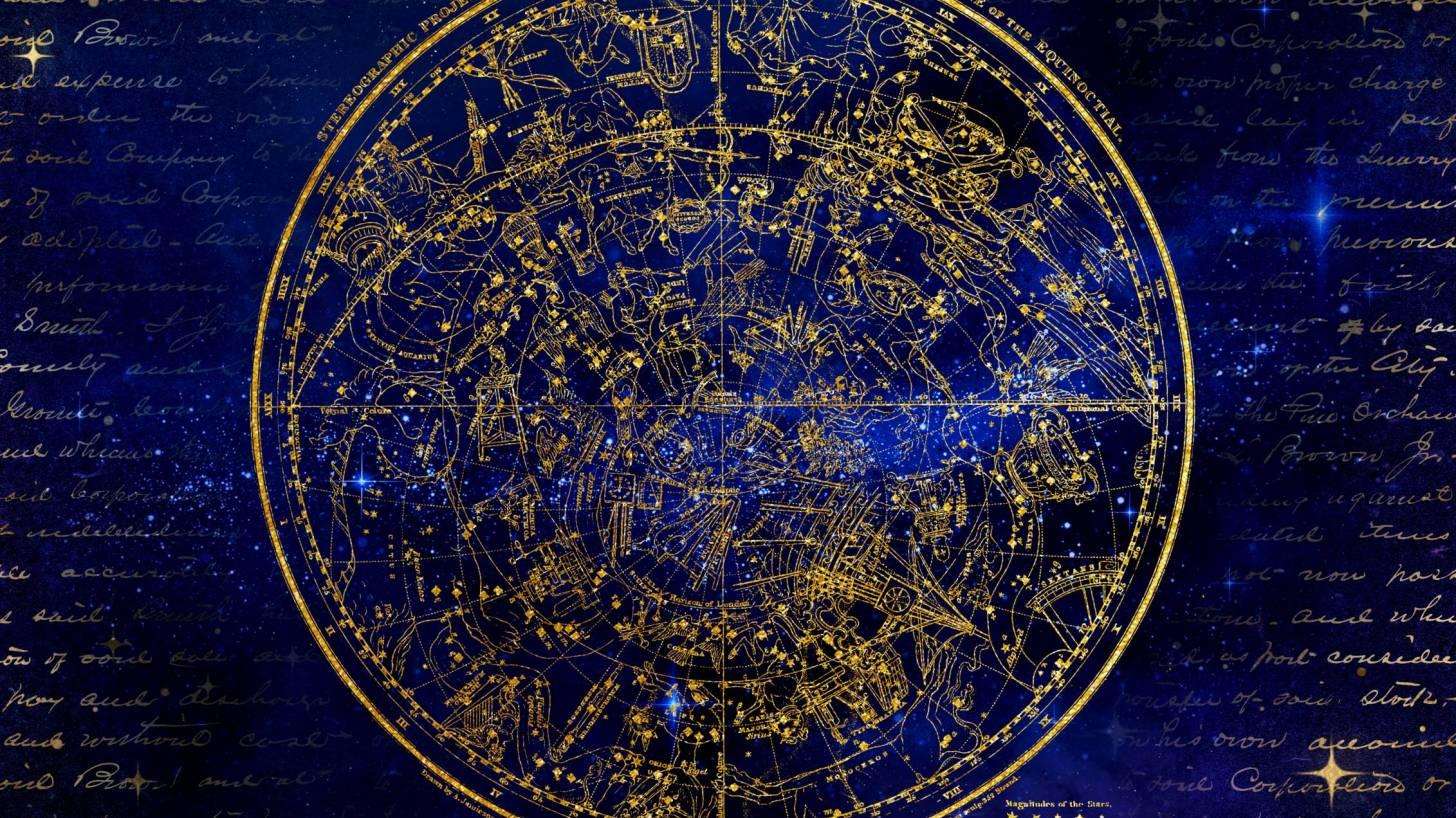 southern hemisphere antique map