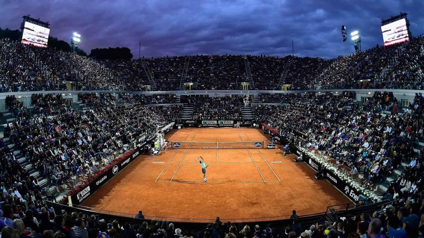clay tennis court stadium