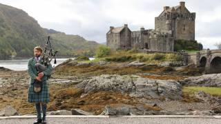 bagpipes player in scotland