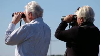 older couple looking thru binoculars