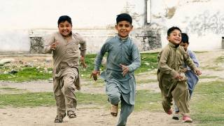 pakistani children running happy