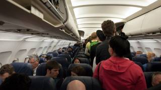 inside jet with passengers