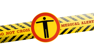 do not cross medical alert tape