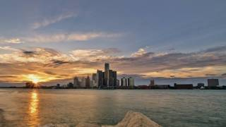 detroit michigan sky line