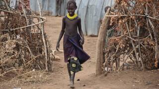 ethiopian child in his village