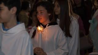 catholic first communion procession