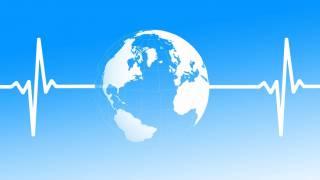 globe woth a heartbeat