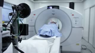cat scan maching in a hospital