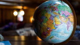 globe with africa continent