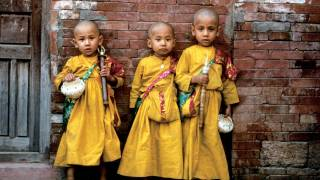 3 boys in native nepal dress